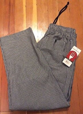 Chef Works NWT Checkered Pattern Designer Baggies Pants Men's Size Large