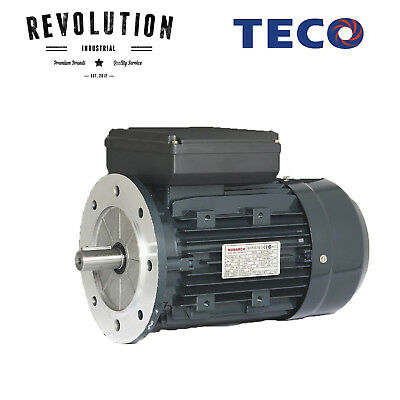 TECO Electric Motor 550 Watt, 1400 rpm, Single Phase (240 volt), Flange mounted