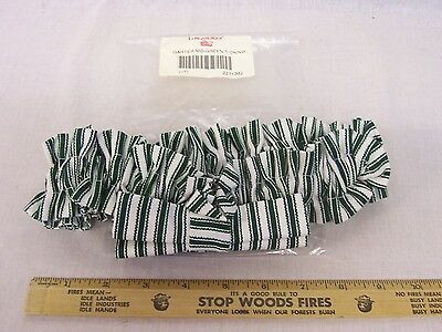 Longaberger Green Ticking Medium Garter Green White Stripes Nib