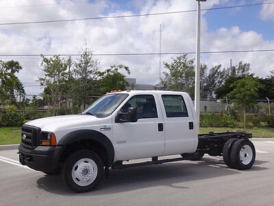 2006 Ford F-550 Cab Chassis Crew Cab 2006 Ford F550 Crew Cab Super Duty Cab Chassis 6.0L Turbo Diesel FL Truck 4:88