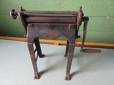 Antique Counter Top Cast Iron Entrekin's Victor Burnisher Patented 1887