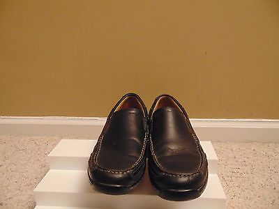 Johnston & Murphy Black Leather Men's Driving Moccasins Shoes Size 9 M.