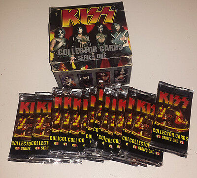 Kiss: cards 15 sealed packs & display box 1997 series one conerstone