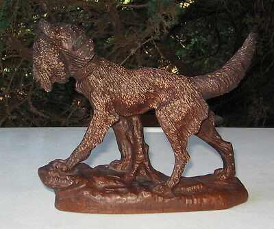 Vintage English Setter With Bird Figurine  Red Mill