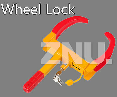Anti Theft Wheel Lock Clamp Boot Tire Claw Parking Car Truck RV ATV Boat Trailer