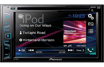 Pioneer Avh-280Bt D-Din Dvd Bluetooth Headunit Avh280Bt