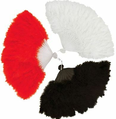 Feather Hand Fans Fancy Dress Costume 1920?s 30?s Burlesque Hen Nights Show Girl