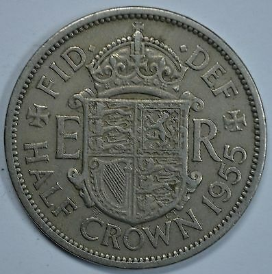 1955 Great Britain half crown coin  Ships free