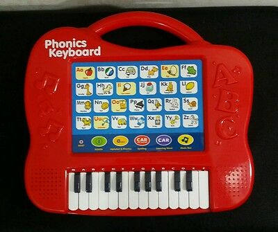 WMU Phonics Keyboard Red - Alphabet Buttons w/ Pictures, 23 Key Keyboard, Music