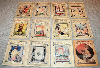 1926 Needlecraft Sewing Magazines 11 issues + American Needle Woman 1926