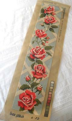 Vintage Completed Baxtergrafik Tapestry Pink Roses On Trellis Suit Craft Upcycle