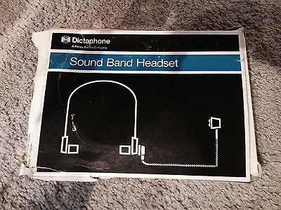 DICTAPHONE Sound Band Headset – Part No. 142900 **FREE SHIPPING**