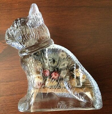 Vintage Bulldog Glass Candy Container w/Original Contents - T. H. Stough Co.