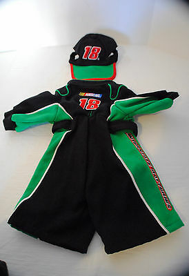 Nascar Jumpsuit  with matching hat~ Bobby Labont~ Boyds Collection Teddy Bear