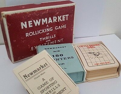Vintage Newmarket Card / Horse Racing Game