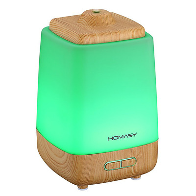 Homasy 200ml Aroma Essential Oil Diffuser Ultrasonic Cool Mist Humidifier