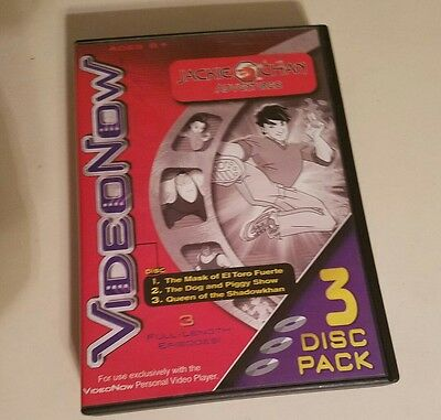 VideoNow Jackie Chan Adventures 3 Disc Pack VideoNow Personal Video Player