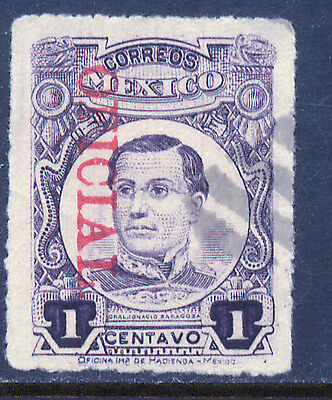 MEXICO O155, 1cent OFFICIAL, USED. (130)