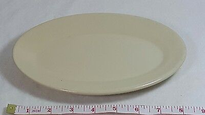 Wallace China Oval Platter Tan Farmer Brothers Restaurant Service 9 x 6 Vintage