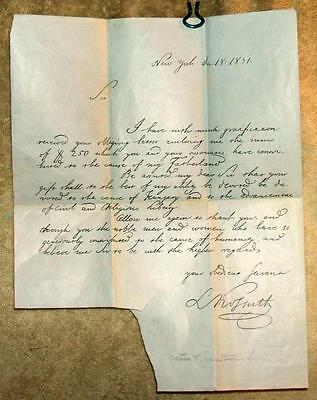 Original 1851 Hand Written Signed Letter from Lajos Kossuth, Hungary