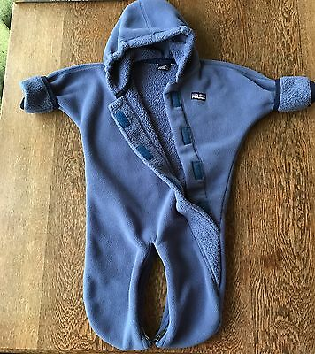 Patagonia Baby Winter Snow Infant Bunting Blue