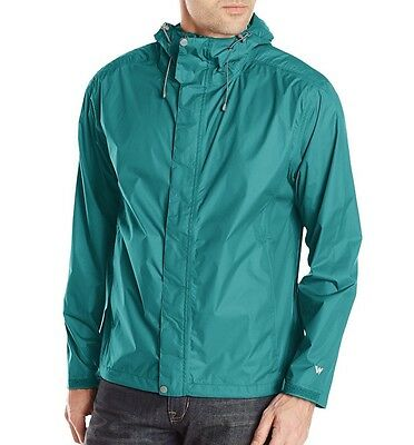 WHITE SIERRA New Men's Trabagon Rain Windbreaker Jacket X2201M Biscay Bay