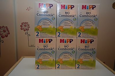 6- BOXES HiPP Stage 2 Organic Follow On Milk Combiotic Baby Formula EXP 7/2018