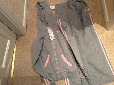 BNWT Girls grey Lonsdale track suit age 11/12 years