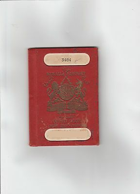 Old Vintage Passport issued 1953 AD َQU'AITI STATE Aden protectorate Mukalla