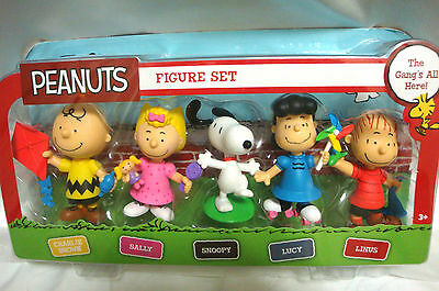 """The Peanuts """"GANGS ALL HERE""""~Complete Set! ~ Charlie Sally Snoopy Lucy & Linus"""