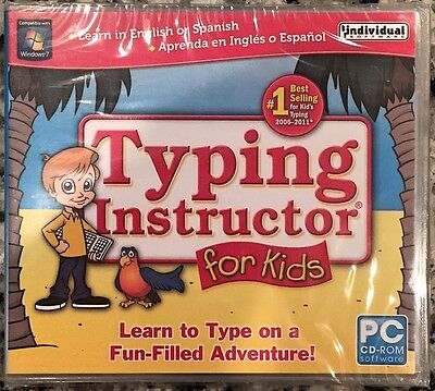 Typing Instructor For Kids (Pc) Brand New Sealed - Win10, 8, 7, Xp - Nice
