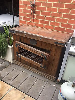 OLD TIMBER Handmade CABINET Very Heavy. In Need Of TLC
