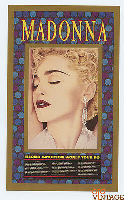Madonna Blonde Ambition Tour 90 Postcard