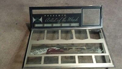 1962 seeburg jukebox  DS 160 top and bottom lid glasses with chrome DS 160 ONLY.