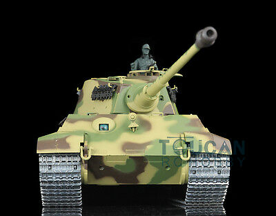 HengLong 1/16 German King Tiger RC Tank Upgraded Metal Airsoft Sound Smoke 3888A