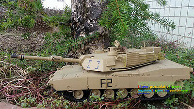 HengLong 2.4Ghz 1/16 USA M1A2 Abrams RTR RC Tank Model Upgraded Metal Ver 3918