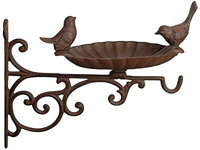 Esschert Design USA Esschert Design FB163 Cast Iron Birdbath with Bracket