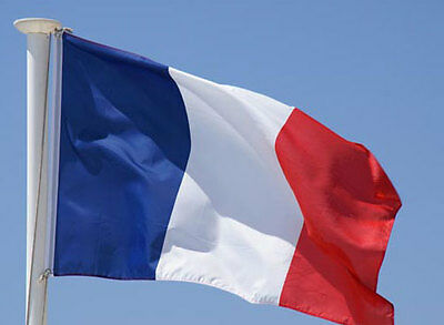 FRANCE FLAG  3X5ft FRENCH SOCCER 90x150cm Satin Type Material NEW