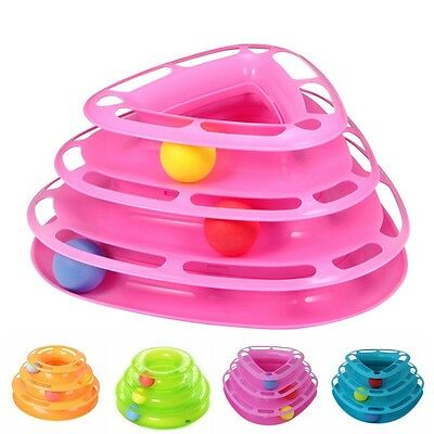 Pet Toy Ball Disk Crazy Interactive Amusement Plate Trilaminar Funny Cat Toy NEW