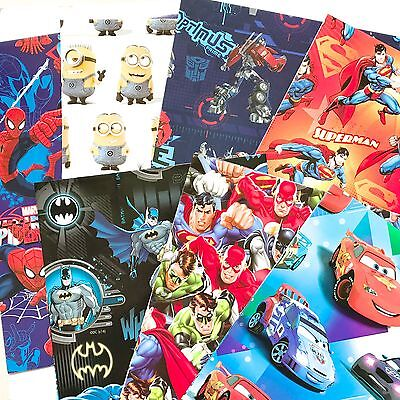 Set of 3 Boy wrapping paper 495x700 mm Licensed Wrapping paper birthday Gift new