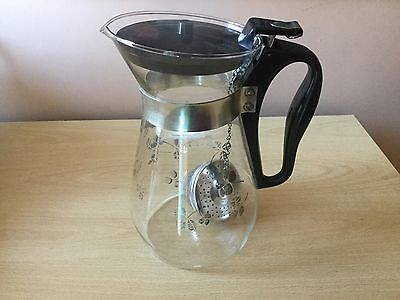 JAJ Clover Coffee Pot With Infuser Pyrex