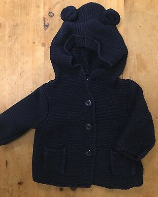 Baby Gap Navy Knitted Cardigan 0-3 Months