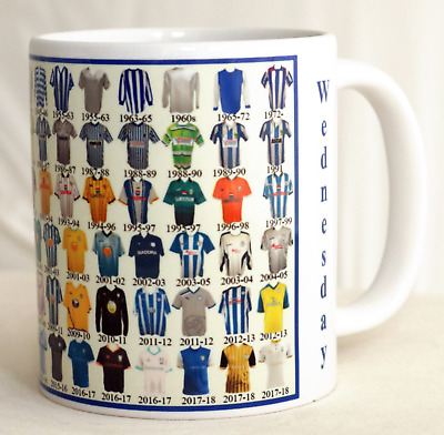 Sheffield Wednesday Mug Football shirt history New Gift