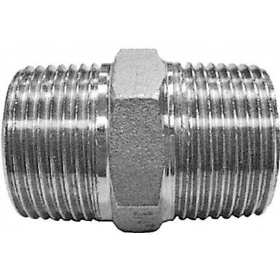 "1-1/4"" BSP Hexagon Nipple 316 Stainless Steel 150LB Pipe Fitting"