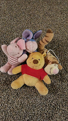 Winnie the Pooh Mobile Plush Animals/Replacements or Toy  Set of Four/