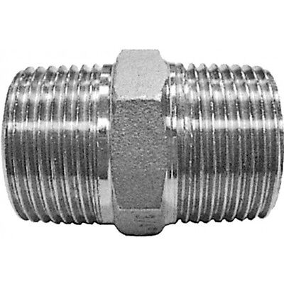 "2-1/2"" BSP Hexagon Nipple 316 Stainless Steel 150LB Pipe Fitting"
