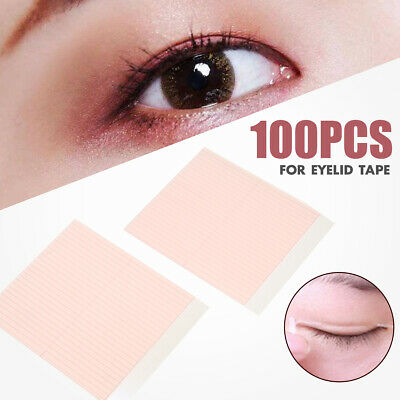 100pcs Invisible Fiber Double Side adhésif Paupière Ruban autocollant Maquillage