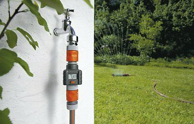 Electronic Water flow Meter House Garden Impact Resistance Accurate LCD Display