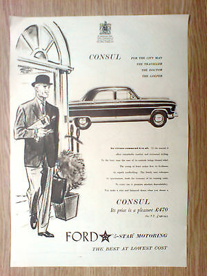 1959 large[13.5x10] advert for the ford consul, 5 star motoring
