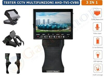 Tester Cctv All In One Ahd Tvi Cvbs Full 1080P Videosorveglianza Monitor 4.3""